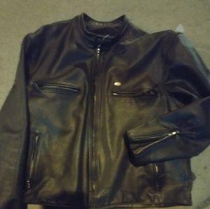 New Harley Davidson Leather Cafe Racer Jacket USA